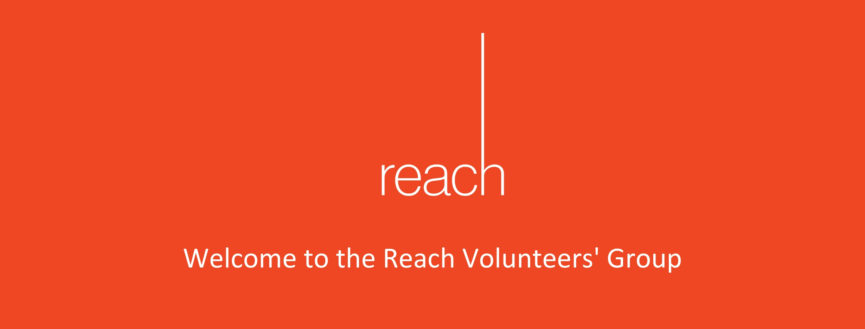 graphic saying welcome to the Reach volunteer's facebook group