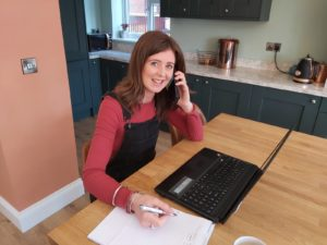 Gemma working from home